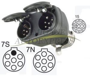 Adaptor Electric Ramificatie De La 15 Poli La 2x7 Poli