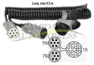 Cablu Electric Y Adaptare De La 15 La 2x7 Pini Fise Metalice