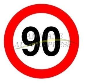 Abtibild Limitare Viteza 90