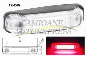 Lampa Pozitie Dispersor Transparent Lumina Led Rosie