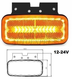 Lampa Pozitie Laterala Lumina Led 2 Fuctii Pozitie+semnalizare