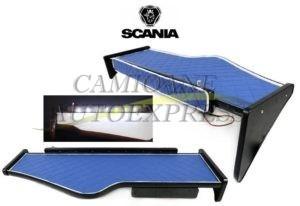Masa Bord Cu Sertar Scania R 2004-2010 Lumina Led ,scoperire Piele Ecologica