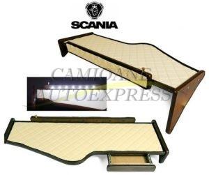 Masa Bord Cu Sertar Scania R 2004-2010 Lumina Led,acoperire Piele Ecologica