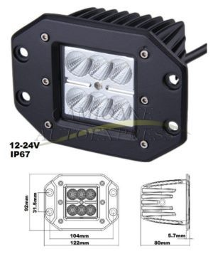Proiector 6 Led 1620lm 18 W